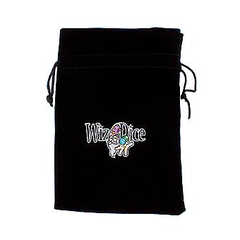 Large 7in x 5in Embroidered Velour Pouch with Drawstring