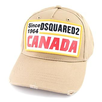 Dsquared2 Patch ricamato Canada Baseball Cap Taupe