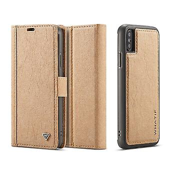 Etui Pour Iphone X Porte-cartes Marron