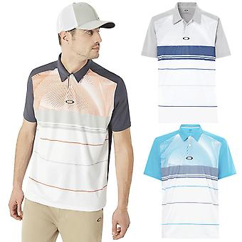 Camisa polo de pavio do Oakley Golf Mens Aero Motion Block