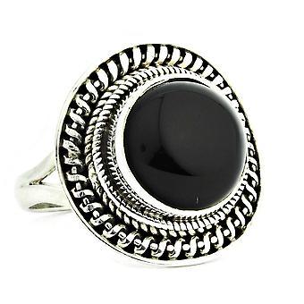 Ring 925 zilver met Onyx 55 mm/x 17,5 mm (KLE-RI-075-03-(55))
