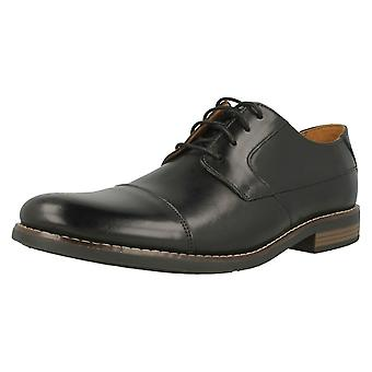 Mens Clarks Formal Lace Up Shoes Becken Cap