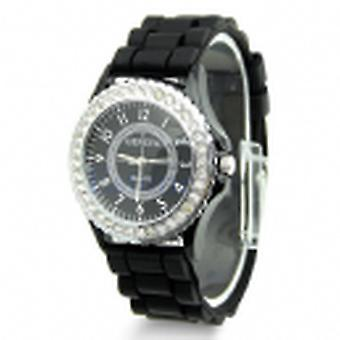 Silicone & crystal watch