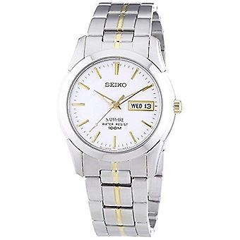 Seiko Conceptual Quartz Silver Stainless Steel White Dial Men's Watch SGG719P1