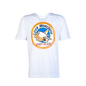 Moschino T Shirt Love Moschino Logo Print M4732 3q M3876