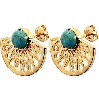 Boucles d'oreilles Mia Dor� & Turquoise
