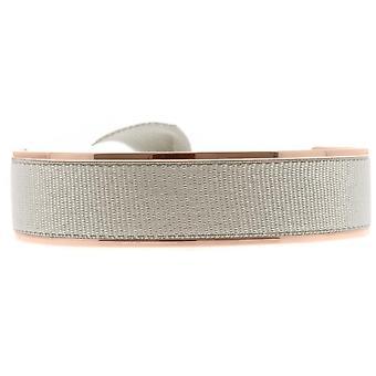 Les verwisselbare armband A47521-Jonc lint verwisselbare 12mm beige vrouwen