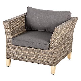 Lounge lænestol-rattan