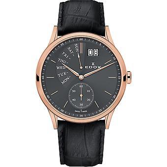 Edox 34500 37R GIR Les Vauberts Relógio Masculino
