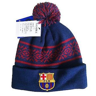 FC Barcelona Unisex aikuisten Joulu lumi hiutale neulottu hattu