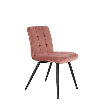 Light & Living Dining Chair 49x57x84cm Olive Velvet Old Pink