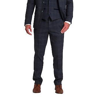 Marc Darcy Scott Blue Tweed Trousers