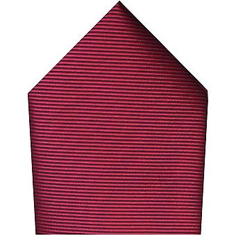 David Van Hagen Plain Twill Polyester Pocket Square - Wine Red