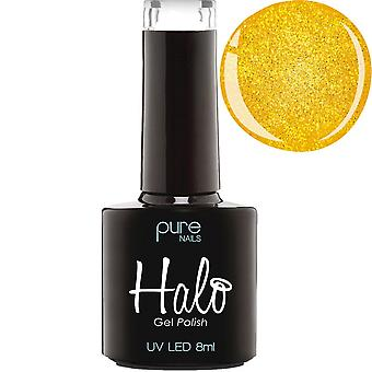 Halo Gel Nails LED/UV Halo Gel Polish Collection - Yellow Gold Sparkle 8ml (N2858)