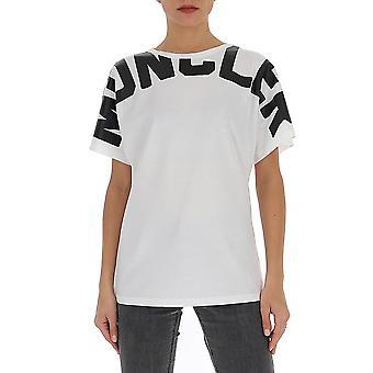 Moncler 8c707v8094033 Women's White Cotton T-shirt
