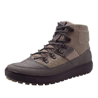 ECCO 450273 Soft 7 Tred Ladies Hiking Winter Boots In Titanium