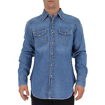 Acne Studios Bb0063auz0midblue Men's Blue Denim Shirt