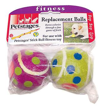 Petstages Polka Dot Dog Toy Tennis Ball (Pack Of 2)
