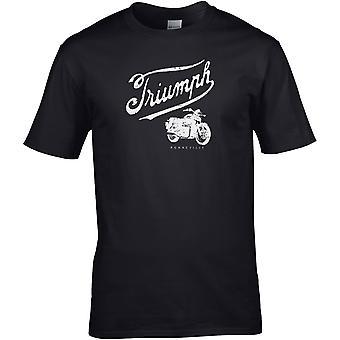Triumph Classic Motorcyklar - Motorcykel Motorcykel Biker - DTG Tryckt T-shirt