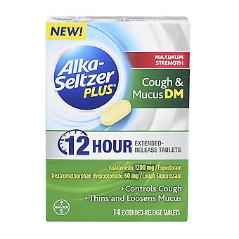 Alka-seltzer plus max strength, cough and mucus, 14 ea