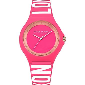Daisy Dixon Ladies Womens Analogue Quartz Watch With Pink Silicone Strap DD040P