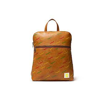 Desigual Women-apos;s Intra Nanaimo Camel Logo Mania Faux Leather Backpack