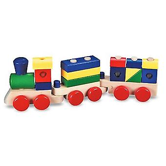 Melissa et Doug Stacking Train - Classic Wooden Toddler Toy (18 Pcs)