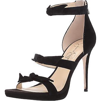 Jessica Simpson Women's Kaycie Heeled Sandal,Black,5 M US