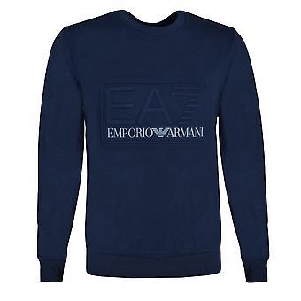 EA7 Men's Navy Blue Sweatshirt