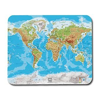 World Physical Map Mouse Pad