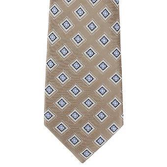 Michelsons Londyn opakowania schludny Jedwabny krawat - Brown