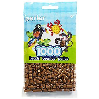 Perler Beads 1,000/Pkg-Light Brown