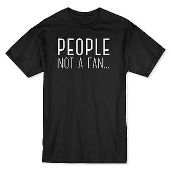 «Pas un Fan des personnes» citation drôle T-shirt homme