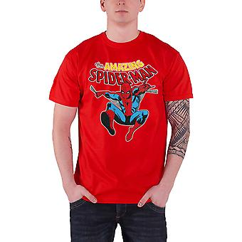 Spiderman T Shirt The Amazing Spiderman stance new Official Marvel Comics Mens