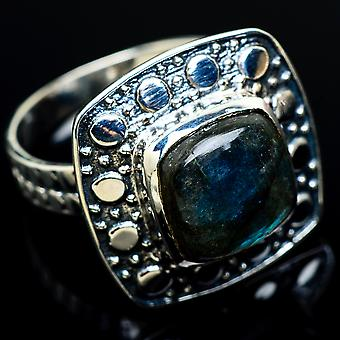 Labradorite Ring Size 8.5 (925 Sterling Silver)  - Handmade Boho Vintage Jewelry RING7693