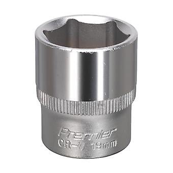 Sealey S3819 Walldrive Socket 19Mm 3/8Sq Drive