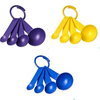 Bullet Ness Plastic Measuring Spoons (Pack of 4)
