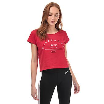 Women's Slazenger Ilena Beskåret T-shirt i rød