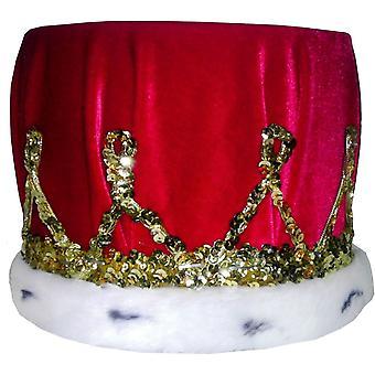 Corona lentejuelas con turbante rojo para todos