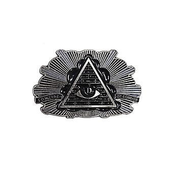 Lowlife Badge Buckle in Black/Black/Silver