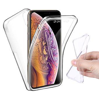 Stuff Certified® iPhone 11 Pro Max Full Body 360 ° Transparent TPU Silikon fall + PET skärmskydd