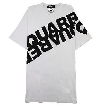 Dsquared2 Diagonal Logo Print Tshirt Weiß