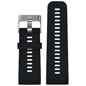 Horlogeband gemaakt door strapsco voor garmin vivoactive hr zwart siliconen horlogeband