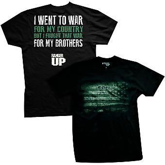 Ranger Up Fought For My Brothers T-Shirt - Black