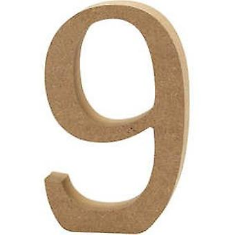 13cm Large Wooden MDF Number Shape to Decorate - 9 | Wood Shapes for Crafts