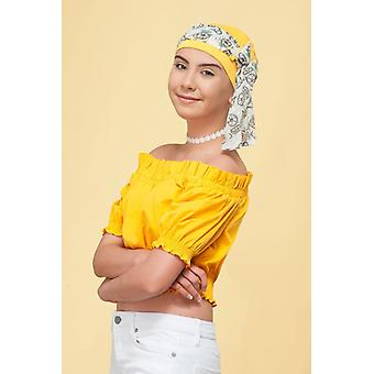 Chemo hats for girls - Yanna Yellow Lemon