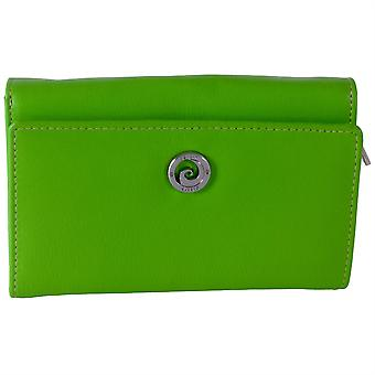 Pierre Cardin Genuine Leather 10 Credit Card Slot Ladies Purse - Green