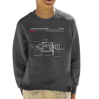 NASA Apollo Command Service Modules Blueprint Kid's Sweatshirt