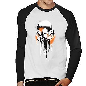 Star Wars Spray Paint Stormtrooper Men's Béisbol camiseta de manga larga