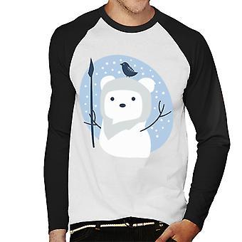Star Wars Christmas Ewok Snowman Hommes-apos;s Baseball Long Sleeved T-Shirt